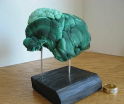 Malachite/Chrysocolla Mound w/Stand